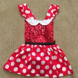 Other - Cross straps glitter polka dot dress